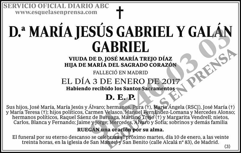 María Jesús Gabriel y Galán Gabriel